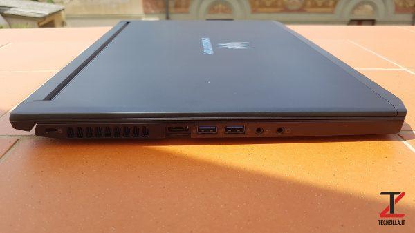 Acer Triton 700 Lato Sinistro