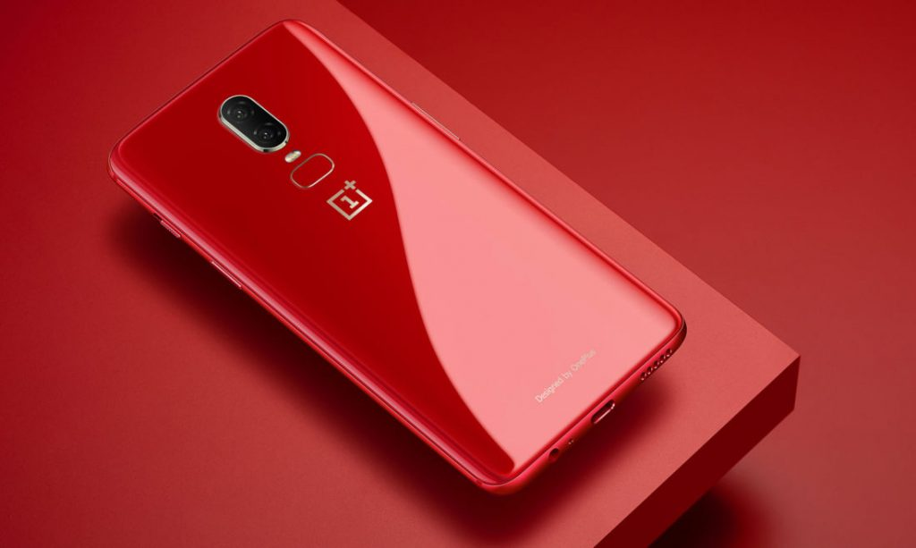 Red OnePlus 6