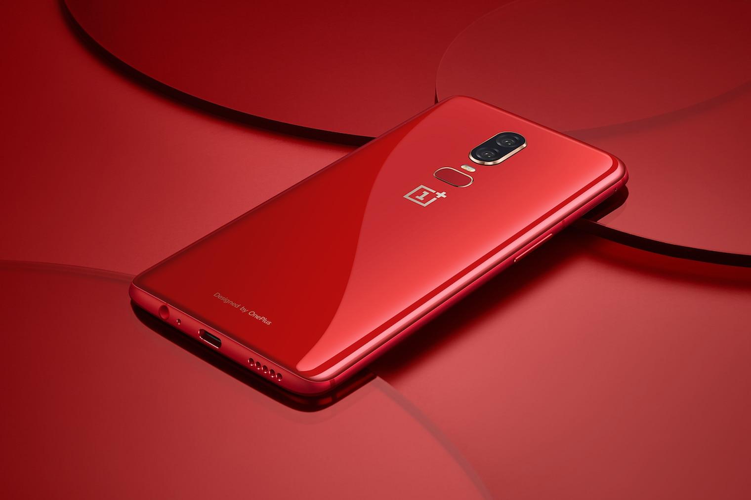 oneplus 6 rosso