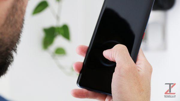 Huawei Mate 20 Pro sensore sotto al display