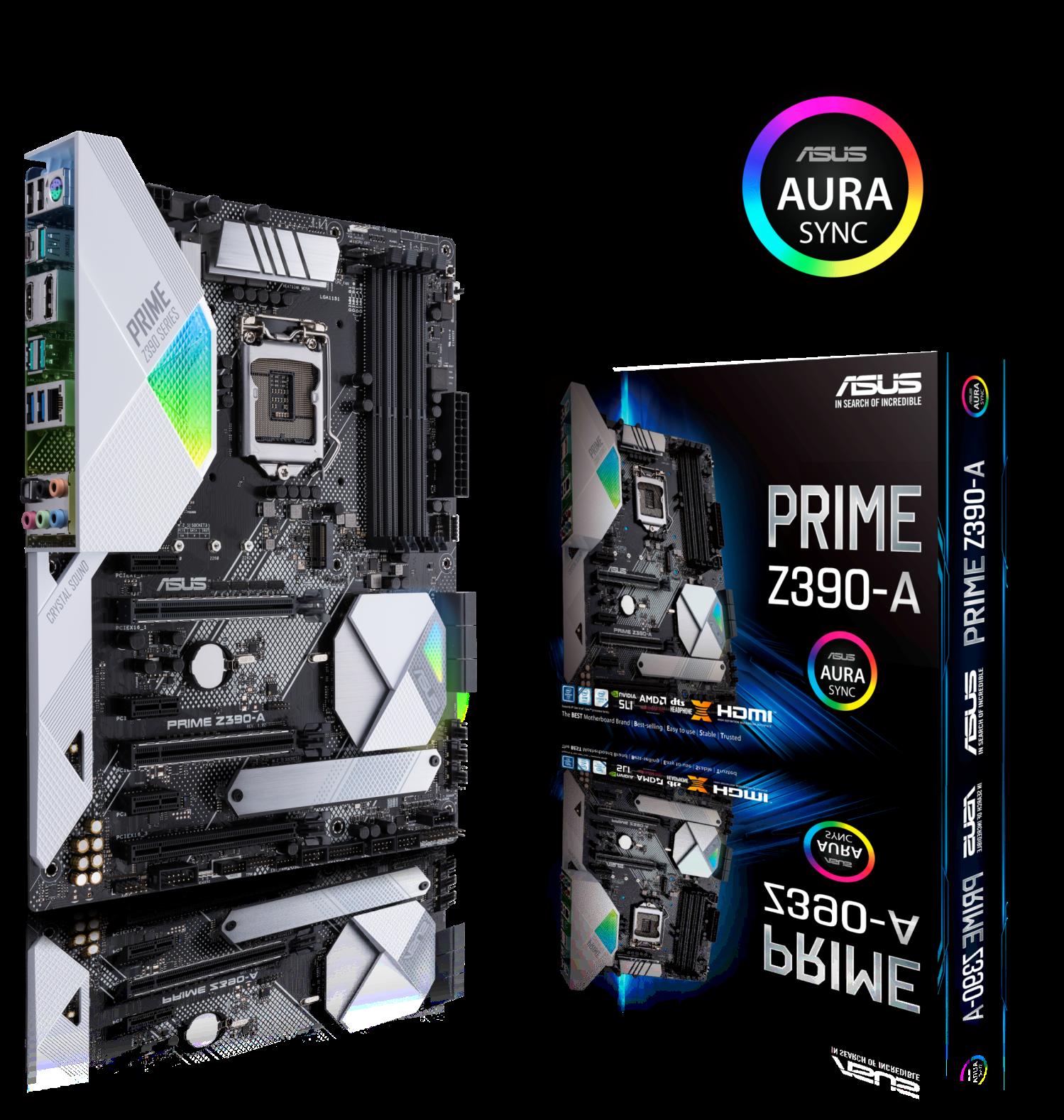 Prime Z390 A with box Aura logo