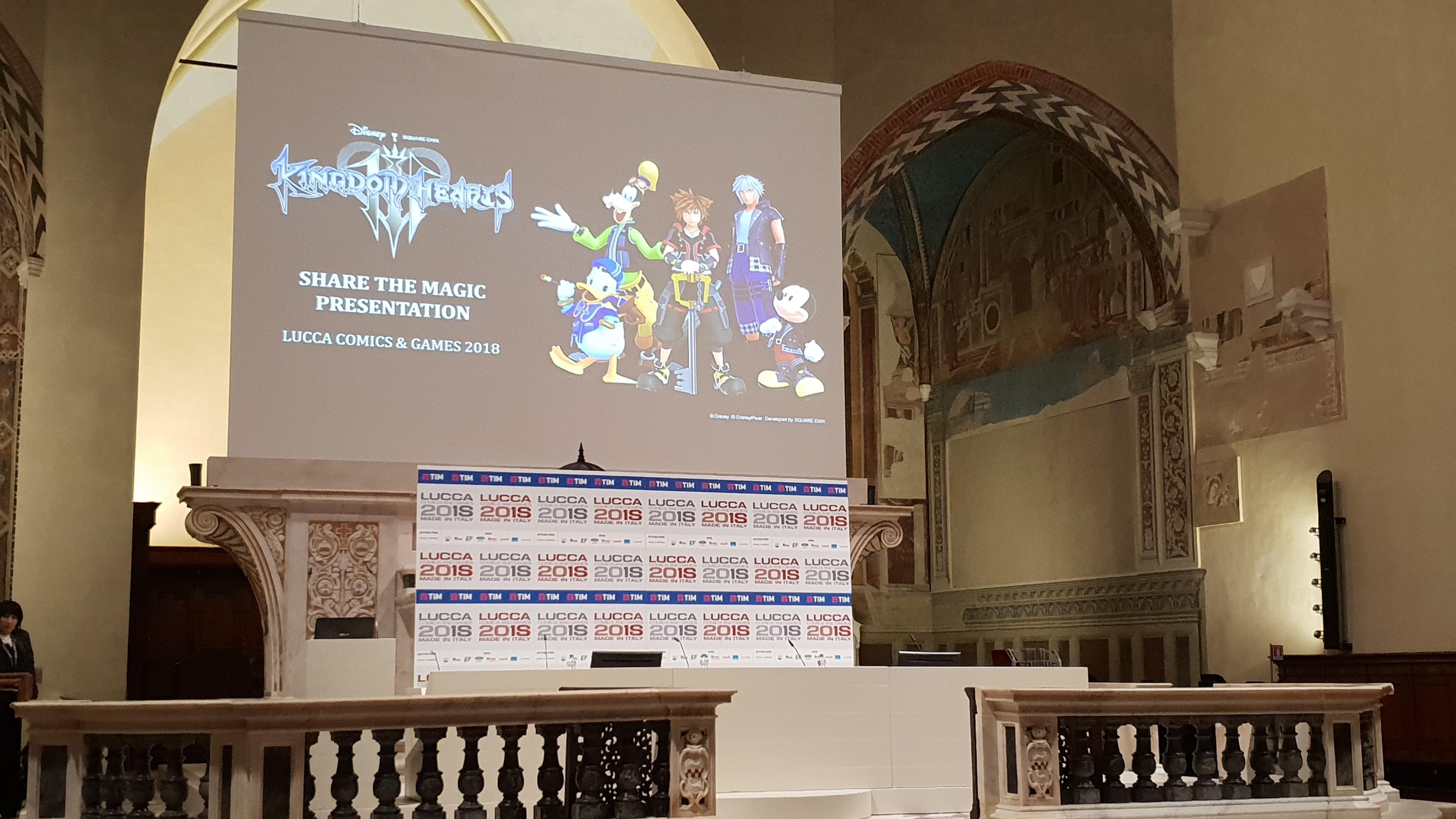 Kingdom Hearts Evento Lucca 2018