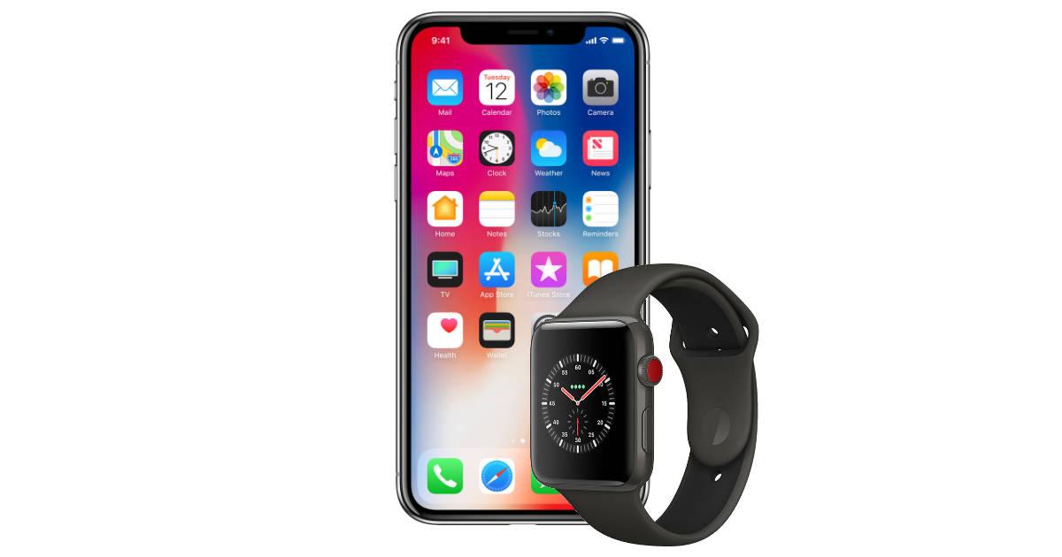 iphone x apple watch 3