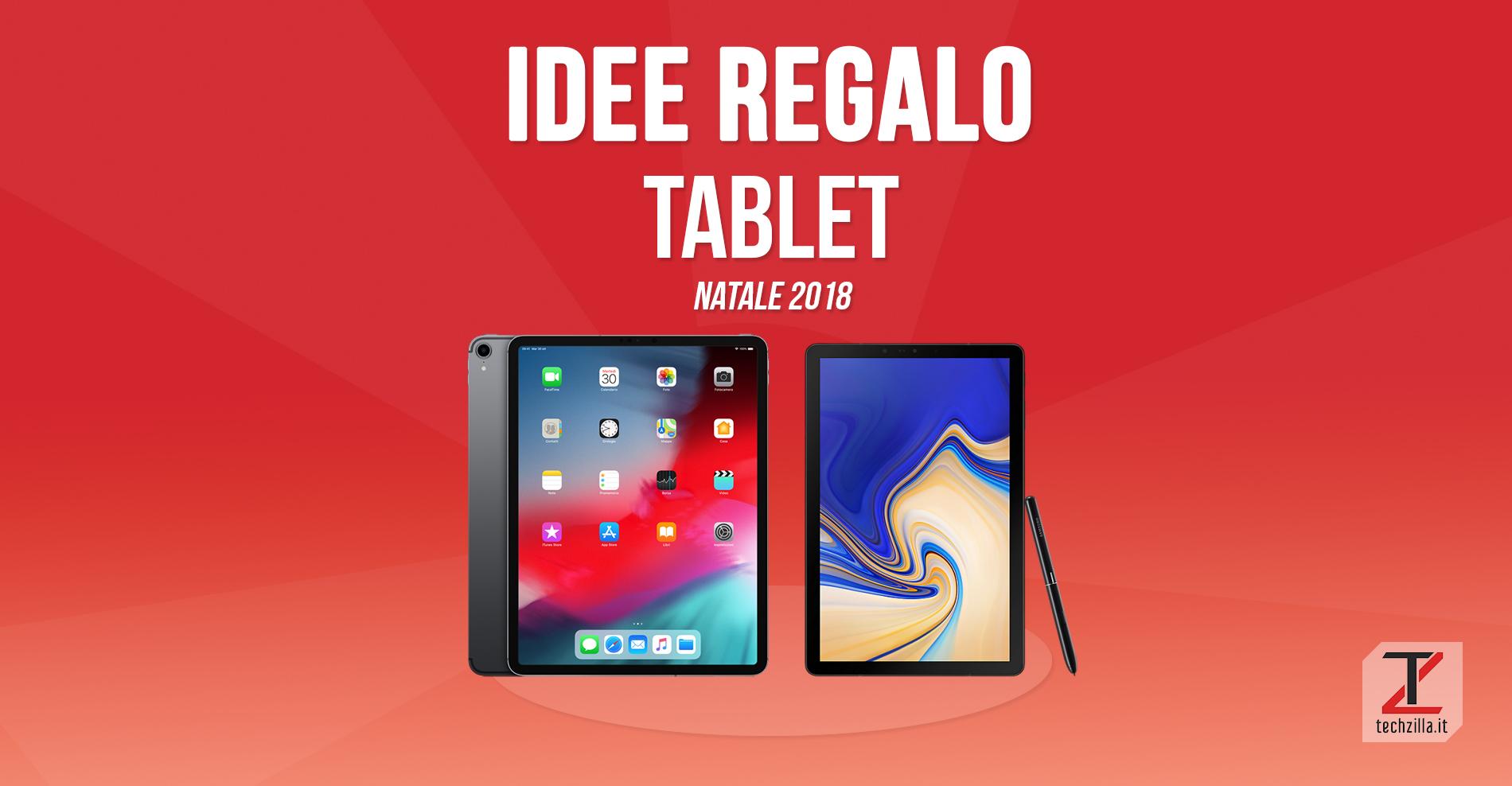 Idee regali tecnologici Natale 2018 tablet