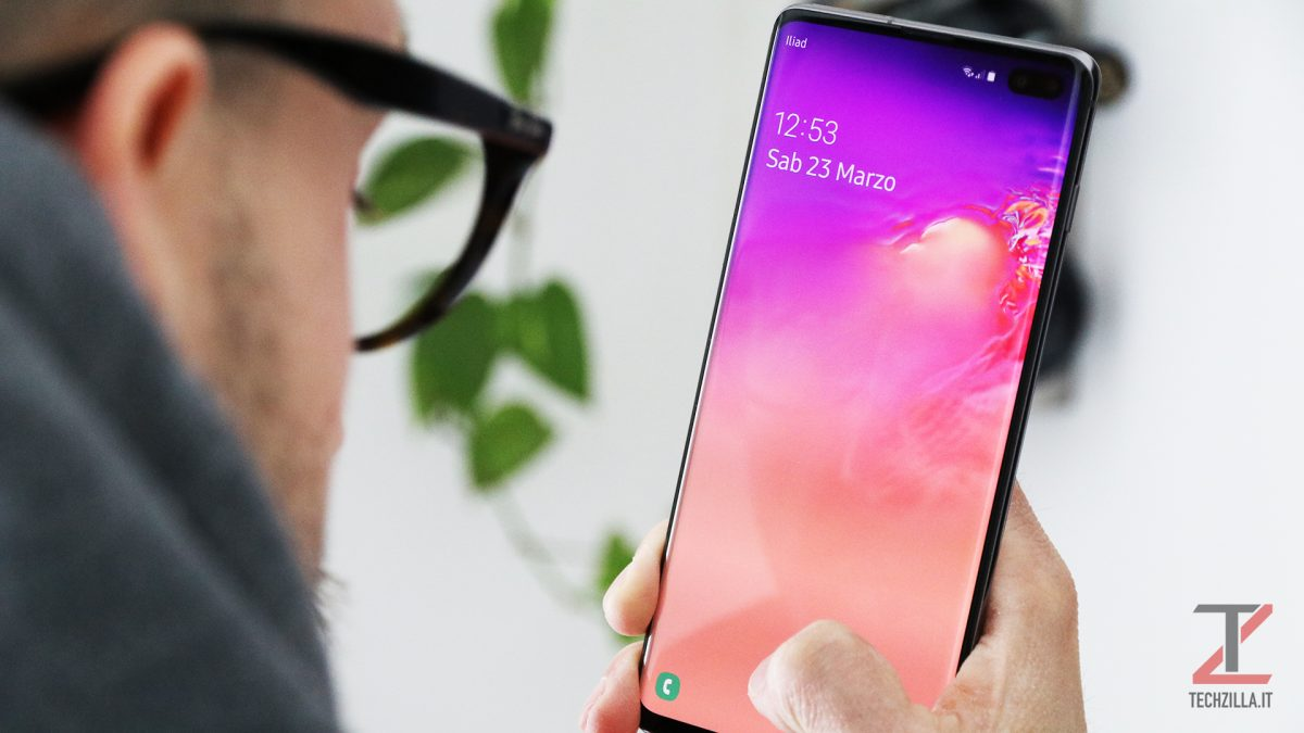 Samsung Galaxy S10+ sensore ultrasuoni