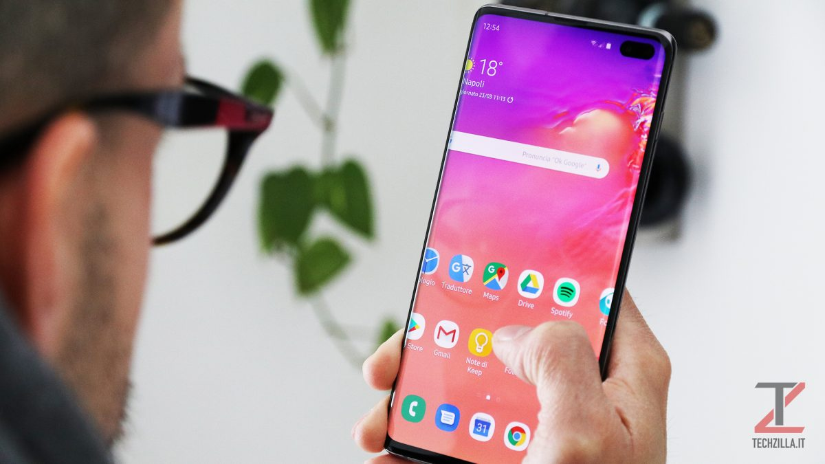 Samsung Galaxy S10+ utilizzo
