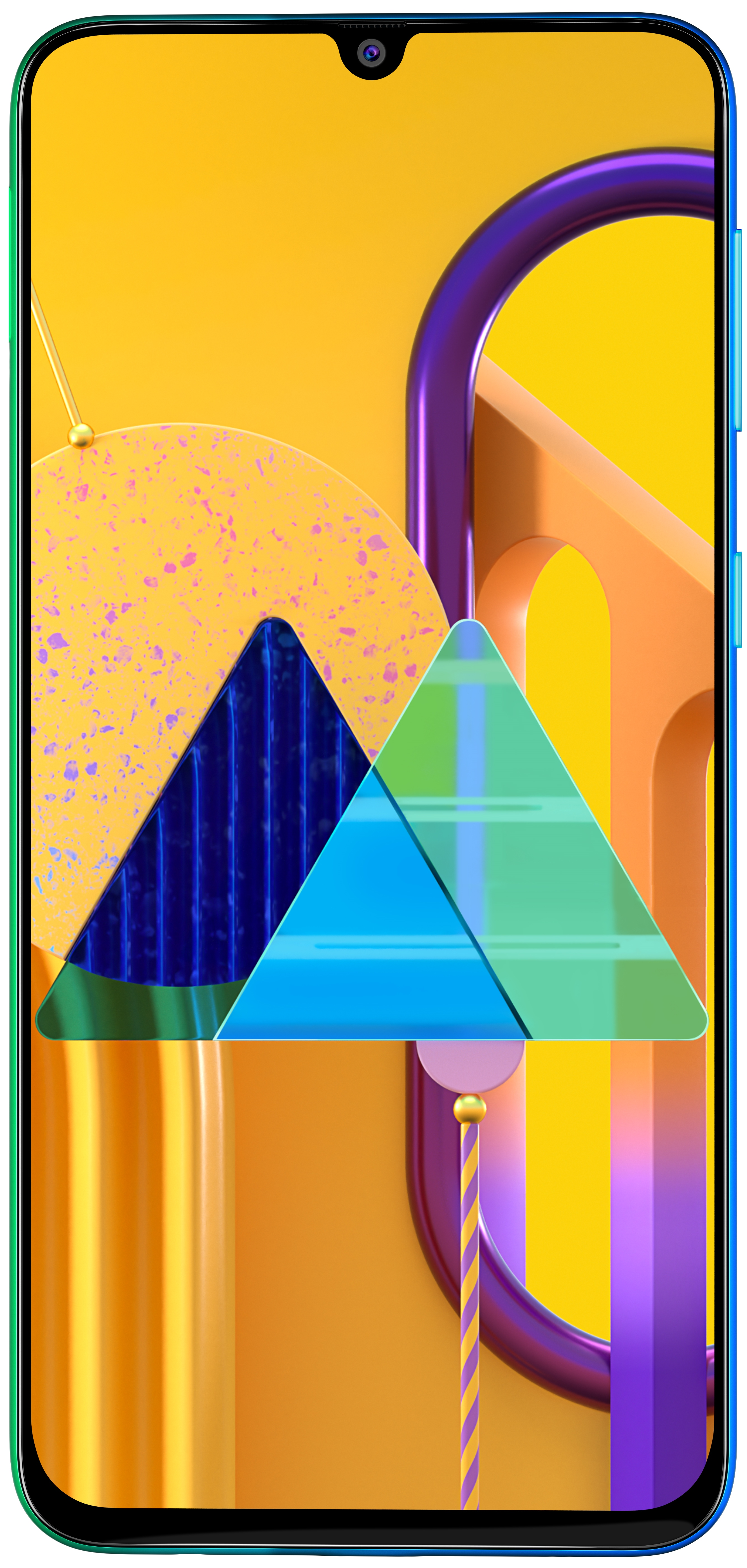 Galaxy M30s Blue Front Angle