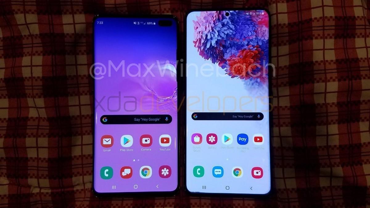 Leaked Samsung Galaxy S20 Plus vs Samsung Galaxy S10 Plus