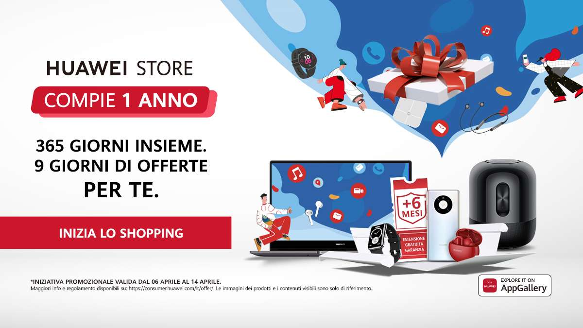 1 anno HuaweiStore