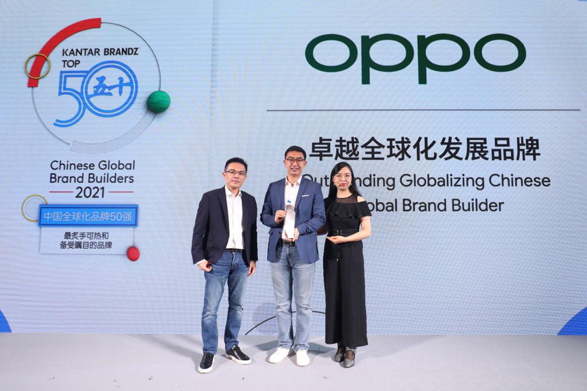 OPPO Outstanding Globalizing Chinese Global Brand Builder Google e KANTAR