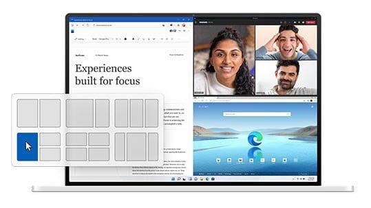 Windows 11 ufficiale - Snap Layouts