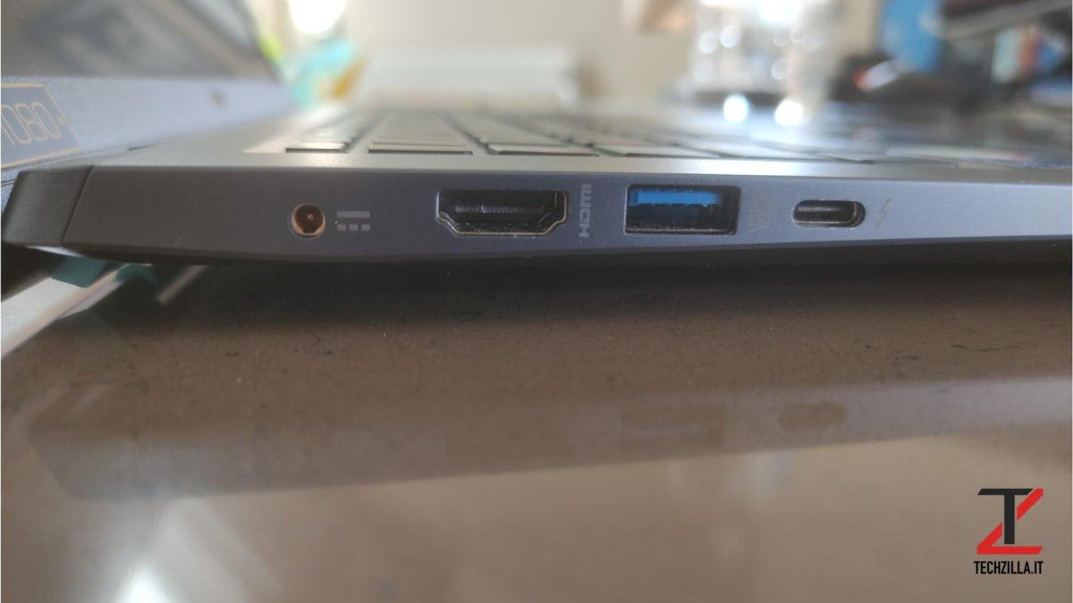 Acer Swift 3x lato sinistro
