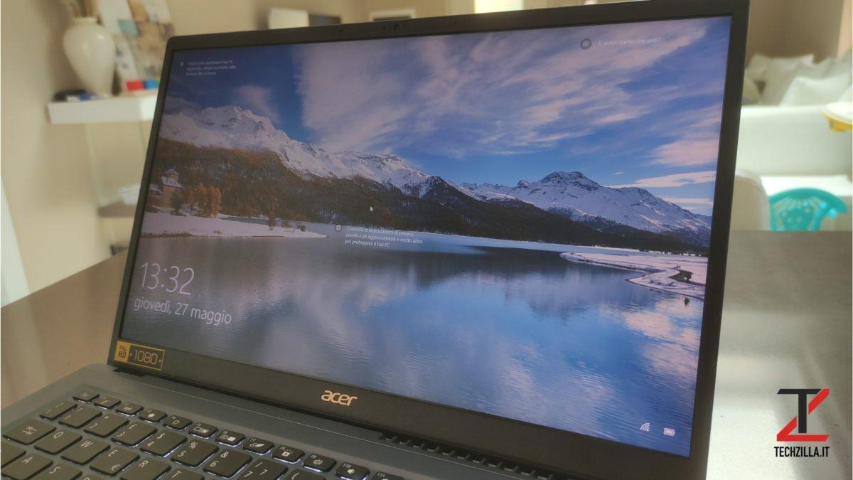 Acer Swift 3x schermo