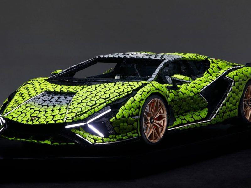 Life size LEGO Technic Lamborghini Sian FKP 37 17