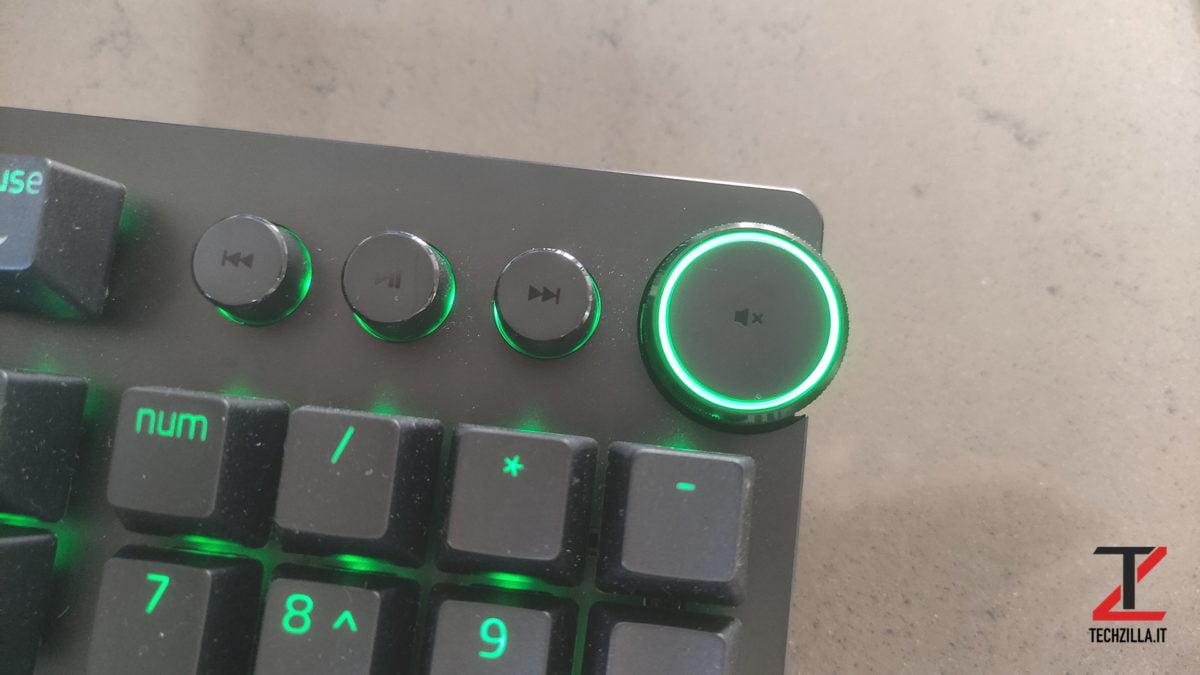 Nuova Razer Huntsman V2 multimedia key